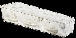 Gewatteerde kist, roomwit met pluisbollen en bladeren KA-NA