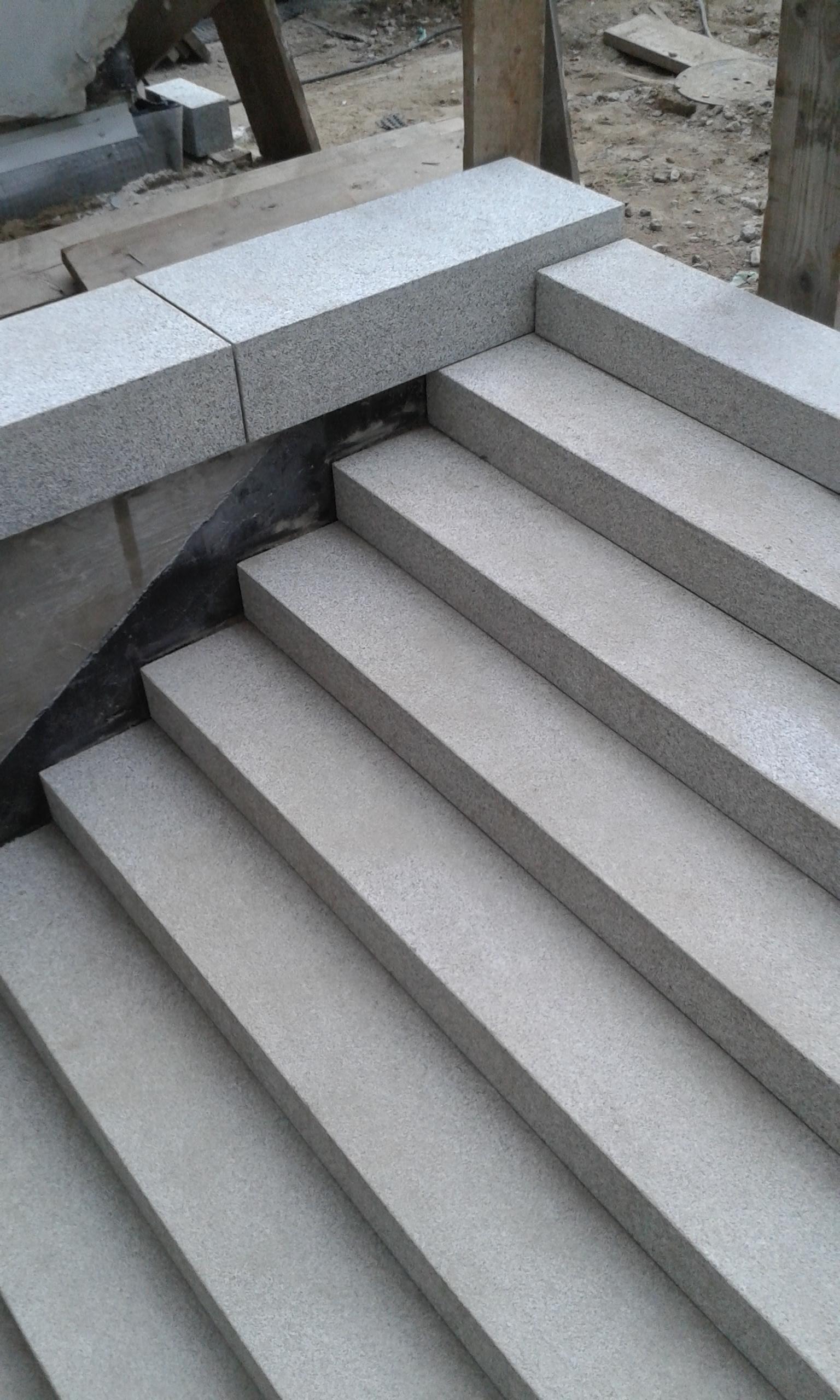 Treppe mit Blockstufen