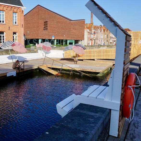 Swimming platform Bruges 2019