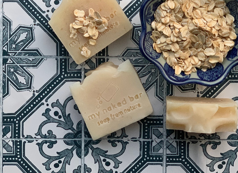my naked bar unscented oatmeal soap for sensitive skin
