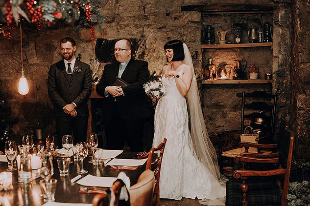 surprise wedding at the bothy Glasgow