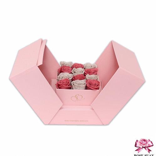 Square box pink-khaki