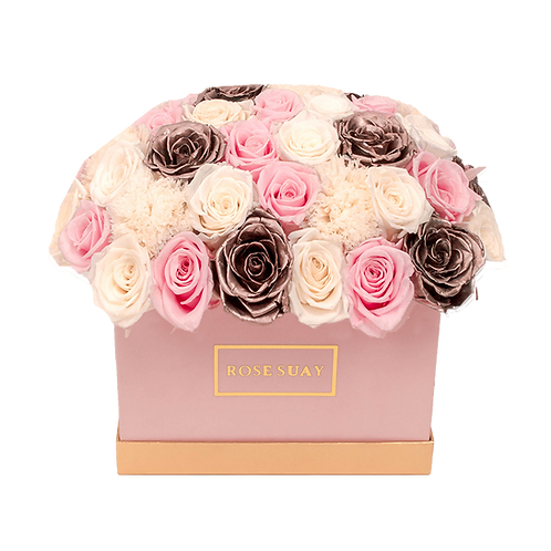 small rectangle-soft shades   eternity roses