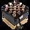 Thumbnail: 24k gold-black eternity roses-large black square box