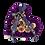 Thumbnail: purple-24k gold eternity roses -small black heart