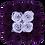 Thumbnail: lilac & eggplant eternity roses - mini white square box