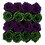 Thumbnail: juniper green & egg plant eternity roses - midi black square box