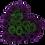 Thumbnail: eggplant & juniper green eternity roses - midi white heart box