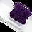 Thumbnail: egg plant eternity roses -white cube box