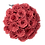 Thumbnail: blush red eternity roses - large white velvet round box