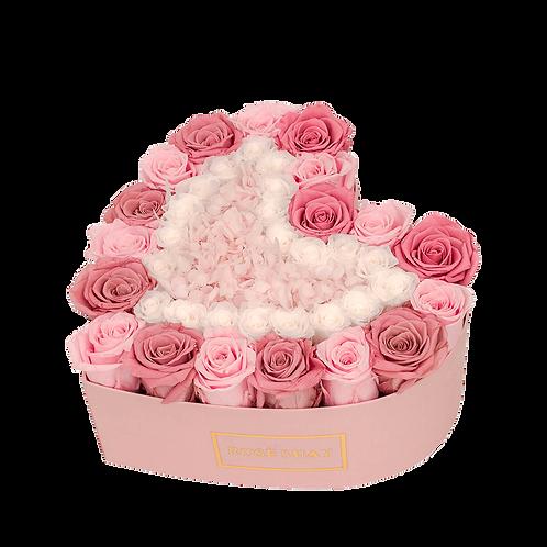 small heart box - red shades | eternity roses