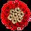 Thumbnail: red eternity roses - midi white round box