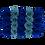 Thumbnail: azure blue & sea blue eternity roses - mini rectangle box