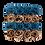 Thumbnail: sea blue & 24k gold eternity roses - mini black square box