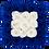 Thumbnail: azure blue & white eternity roses - midi white square box