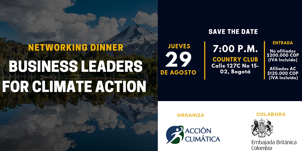 Networking Dinner: Business Leaders for Climate Action