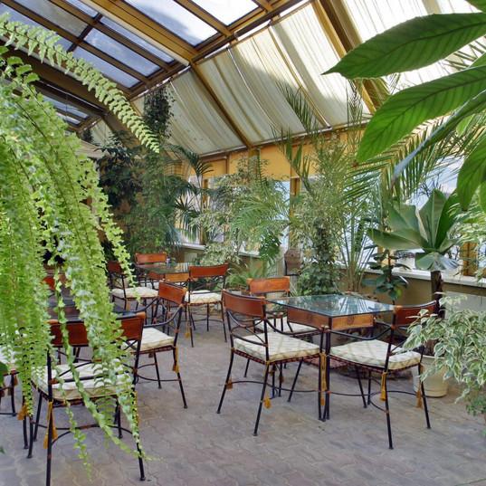 Кафе в зимнем саду Строительство, проектирование Спб