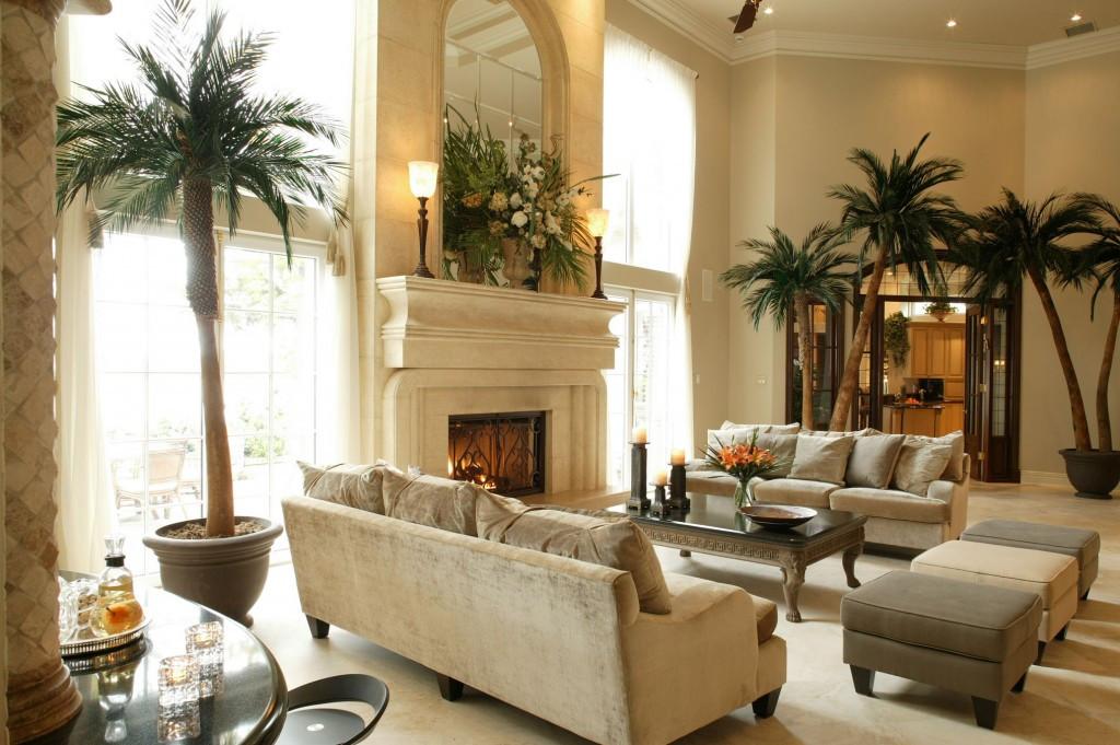 Пальмы в интерьере дома