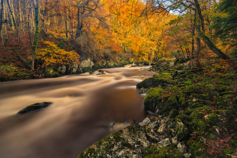 Afon Conwy in Autumn 'long exposure'