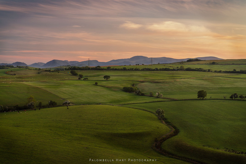 Sunset in the Conwy Hills