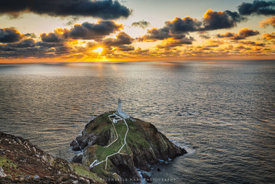 Sunset at South Stack Lighthouse