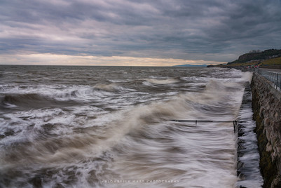 High Tide at Old Colwyn Promenade