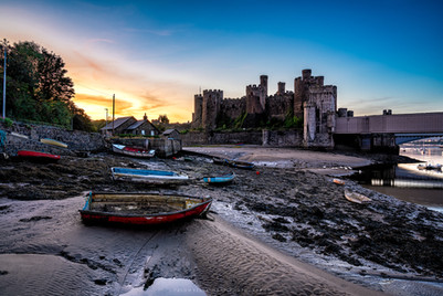 Conwy castle 'shot from the shore'