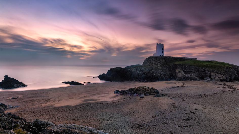 Twr Mawr Lighthouse' A November Sunset'