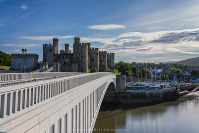 Conwy Castle 'captured from the bridge'