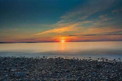 Sunset at Penmaenmawr Beach 'long exposure'