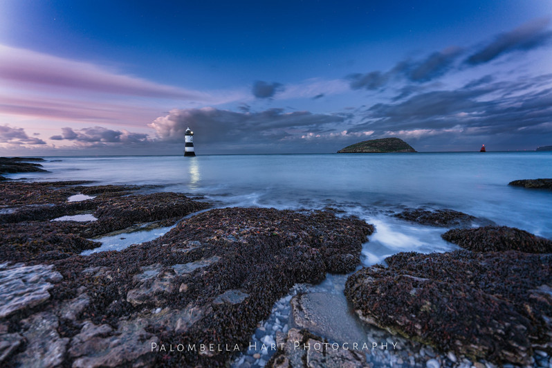 Twilight at Trwyn Du Lighthouse