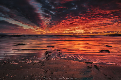 Aberffraw Beach Red Sunset