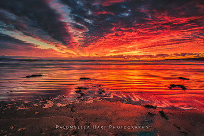 Aberffraw Beach Red Sunset