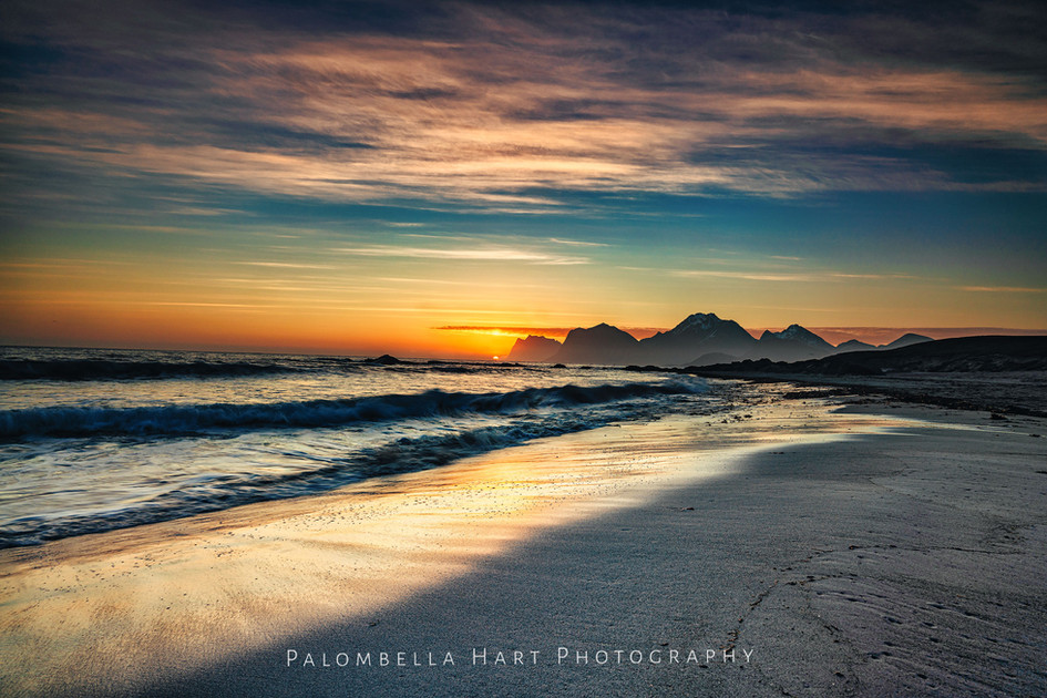 Sunrise at Storsandnes Beach