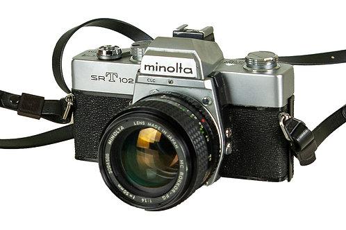 107 Minolta SRT102 Camera | Caméra Minolta SRT102
