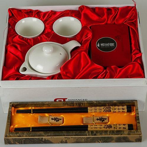 114 Chinese Tea and Chopsticks Set   Service à thé et baguettes chinoises