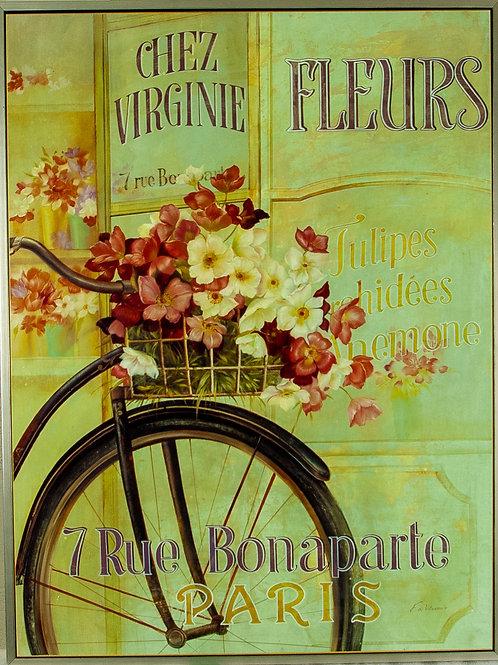 76 Chez Virgine Fleurs Poster | Affiche Chez Virgine Fleurs