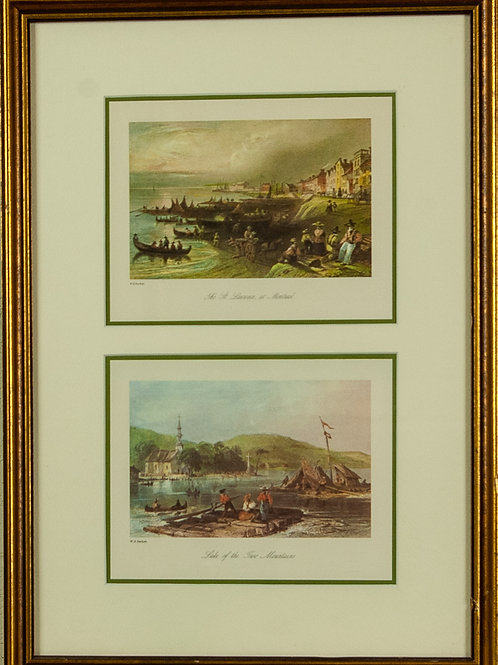 82 Canadian Scenery Illustrated (Set of 4 Prints, Reproduction | Canadian Sc...