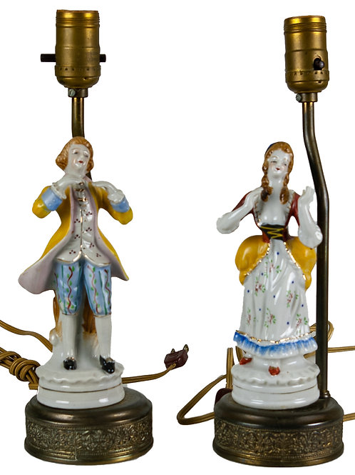 57 Dresden Porcelain Lamps (Set of 2) | Lampes en porcelaine de Dresden (Ens...