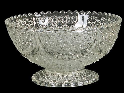 "130 Crystal Bowl, ""Stars"" Pattern | Bol en crystal, motif ""étoiles"""