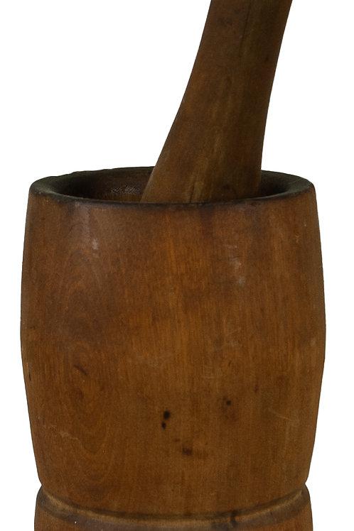 88 Wooden Mortar & Pestle | Mortier et pilon en bois