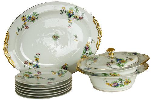 110 Limoges China (Set of 10 Pcs) | Porcelaine de Limoges (Ensemble de 10 piè...