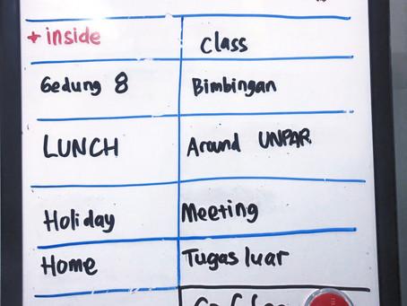 Sistem sederhana menghargai waktu mahasiswa
