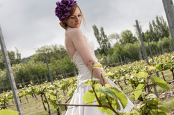 bride in vineyard shoreham kent