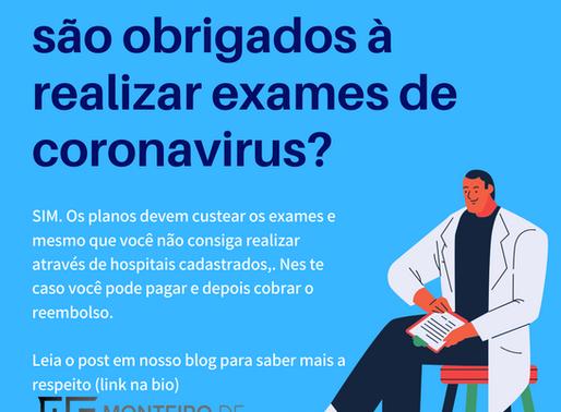 Planos de saúde são obrigados a realizar exame de coronavírus? Como proceder?