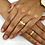 Thumbnail: Par de Alianças Reta em Ouro 18K e Prata 5 mm com Detalhe Fosco (opcional)