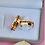 Thumbnail: Par de Alianças Reta em Ouro 18K e Prata 6 mm com Zirconias Black