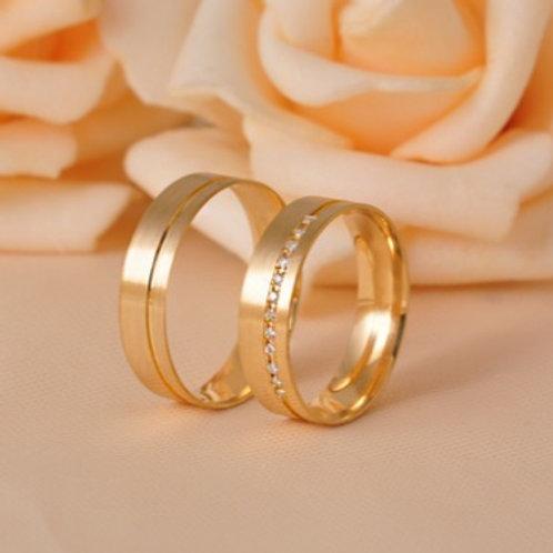 Par de Alianças de Casamento em Ouro 14K 5 mm
