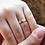 Thumbnail: Kit Par de Alianças Quadradas em Ouro 18K e Prata 4 mm + Anel Solitário 14K