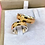Thumbnail: Par de Alianças Trabalhadas em Ouro 18K e Prata 6 mm